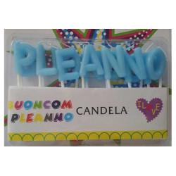 """Candeline alfabetiche """"Buon Compleanno"""" Celeste"""