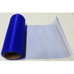 Rotolo in organza effetto lucido Blu 48cmx6m