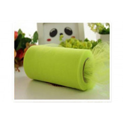 Rotolo tulle verde mela 15cmx50m