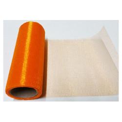 Rotolo in organza effetto lucido Arancione 14cmx8m