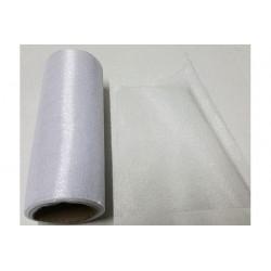 Rotolo in organza effetto lucido Bianco 14cmx8m