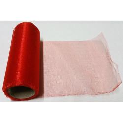 Rotolo in organza effetto lucido Rosso 14cmx8m
