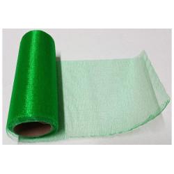 Rotolo organza effetto lucido Verde 14cmx8m