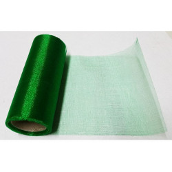 Rotolo organza effetto lucido Verde Smeraldo 14cmx8m