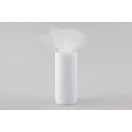 Rotolo tulle Bianco 25cmx100mt