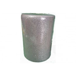 Rotolo tulle argento glitterato 25cmx100 m