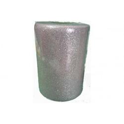 Rotolo tulle argento glitterato 12