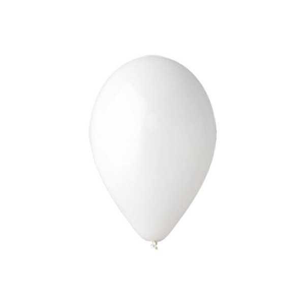 10 palloncini Bianchi diametro cm 19