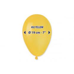 100 palloncini Gialli diametro 19cm