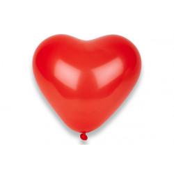 8 Palloncini cuore rosso 25cm
