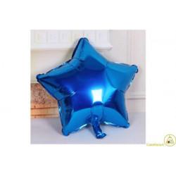 Palloncino a forma di Stella Blu 45cm