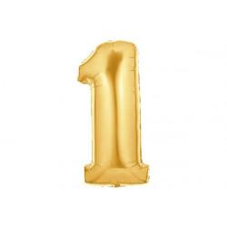 Palloncino numero uno oro 40cm