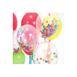 12 palloncini con coriandoli cm 30