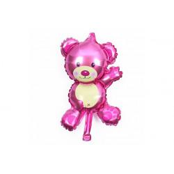 Palloncino Compleanno Orsetto Rosa 26x44cm