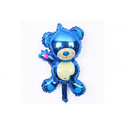 Palloncino Compleanno Orsetto Azzurro 26x44cm