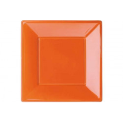 Piatto Quadro in Ps Arancio cm 18 pz 20
