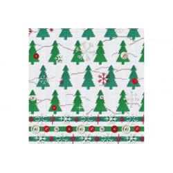 Tovaglioli 33x33 - 3 veli pz 20 tema Alberi di Natale