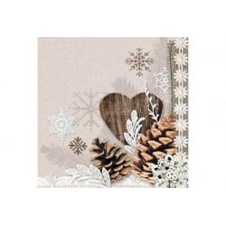 Tovaglioli 33x33 - 3 veli pz 20 tema Natura Invernale
