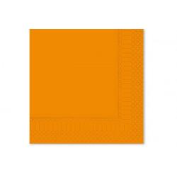 Tovaglioli 33x33 - 2 veli 50 pz Arancio