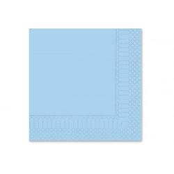 Tovaglioli 33x33 - 2 veli 50 pz Azzurri