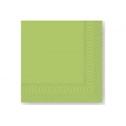 Tovaglioli 33x33 - 2 veli 50 pz Verde Mela