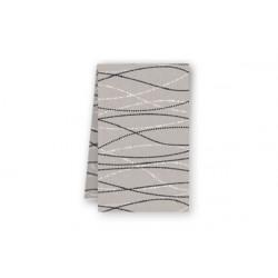 Tovaglia Quadrata Perle Tortora in Cotonato Monouso 100x100cm