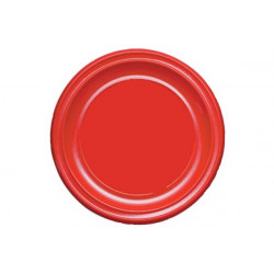 Piatto Piano Rosso cm 22 pz 30