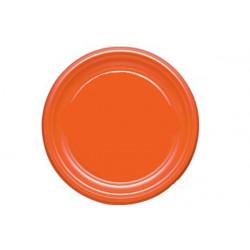 Piatto Piano Arancio cm 22 pz 30