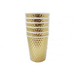 Bicchiere effetto specchio metallizzato oro pz6