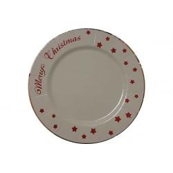 """2 Sottopiatto in cartoncino diametro cm 32 """"Merry Christmas"""" Bianco"""