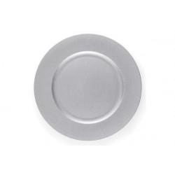 2 Sottopiatto in cartoncino diametro cm 32 argento