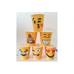 Bicchieri cc 200 - pz 6 Emoticons Smiles Assortiti