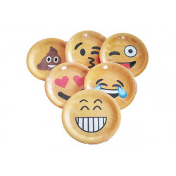 Piatti Frutta 18 cm - pz 6 Emoticons Smiles Assortiti