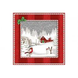 Tovaglioli 33x33 - 3 Veli pz 20 tema Nevicata