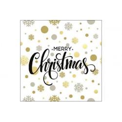 Tovaglioli 33x33 - 3 Veli pz 20 tema Christmas Dots