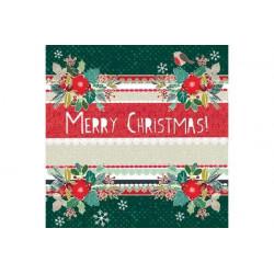Tovaglioli 33x33 - 3 Veli pz 20 tema Lovely Christmas