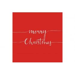 Tovaglioli 33x33 - 3 Veli pz 20 tema Merry Christmas