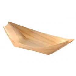 Barchetta in legno Piroga Finger Food 14x7x2cm 4pz