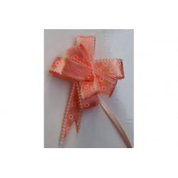 Coccarda Fiocco piccola o Coccardina Rosa disegno fantasia 23mm 10pz
