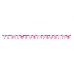 Festone Il Mio Compleanno Rosa cm 285 x 20