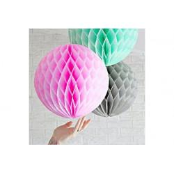Festone in carta globo cm 30 Rosa