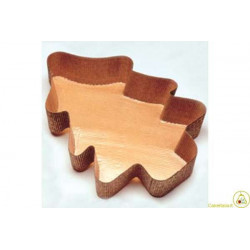 4 Stampi Albero Natale 900gr carta cellulosa calandrata ondulata microforata