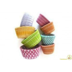 100 Pirottini Cup Cake Fantasia in carta diametro 8cm