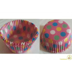 80 Pirottini Cup Cake Fantasia in carta diametro 7cm