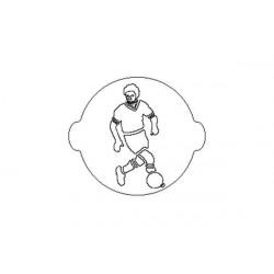 Stencil Mascherina Calciatore cm 24