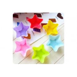 12 Stampi muffin silicone forma stella