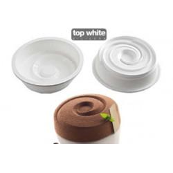 Stampo Vortex 1000ml 18cm Silicone Tortaflex Bianco