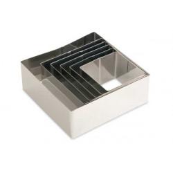 Set 6 anelli quadrati assortiti in acciaio inox