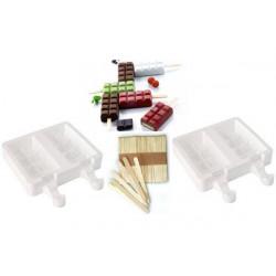 Kit 2 stampi per gelato Chocostick in silicone
