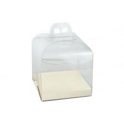 Scatola Panettone Trasparente con fondo bianco gr 1000